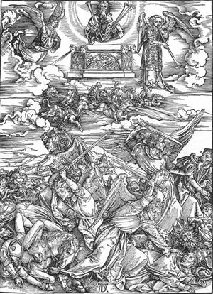 Las Siete Trompetas, de Durero (1487-1498)