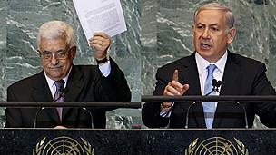 Mahmud Abbas y Benjamin Netanyahu
