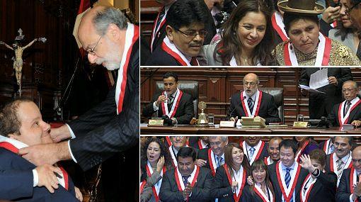 Congresistas juran por José Carlos Mariátegui, Haya de la Torre y Fujimori