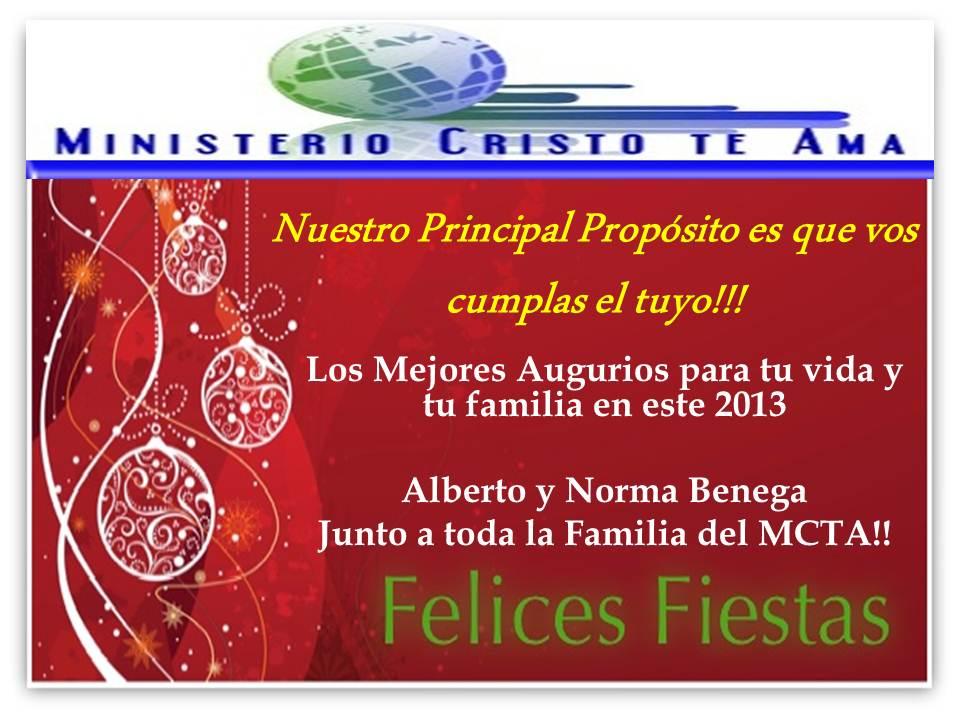 Felices Fiestas te desea el Ministerio Cristo te Ama
