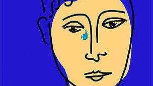 Dibujo de cara triste