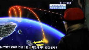 Trayectoria del cohete norcoreano