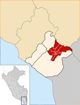 Localización de la provincia de Tarata en la región Tacna.