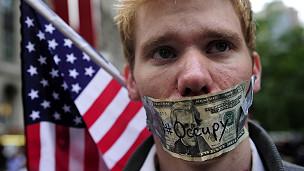 Protesta contra el capitalismo en Manhattan