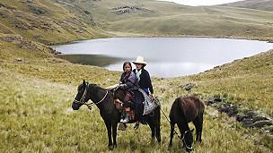 laguna andina en cajamarca