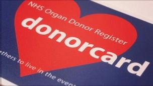 Tarjeta de donante en el Reino Unido