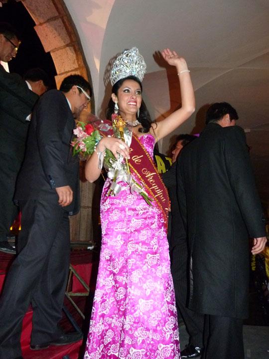 La nueva Miss Arequipa 2011 ganadora