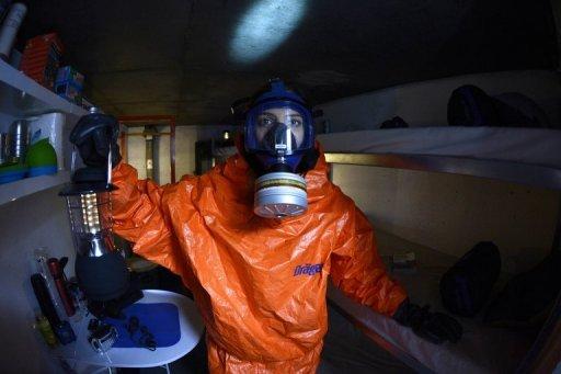Un refugio nuclear en París del programa televisivo 'Familias apocalipsis', fotografiado el 14 de noviembre de 2012