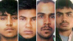 Los cuatro hombres condenados a muerte por la violación de la joven