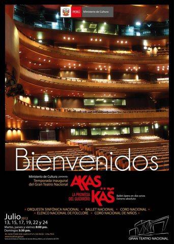 Cartel Akas Kas en el Gran Teatro Nacional