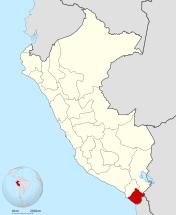 Ubicación del Departamento de Tacna